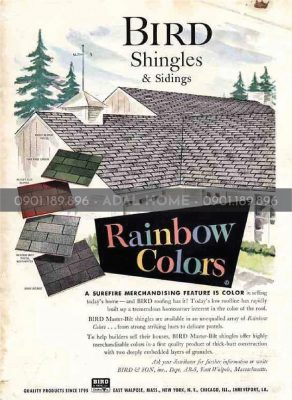 Hình – Poster ngói bitum tại Hoa Kỳ 1960s