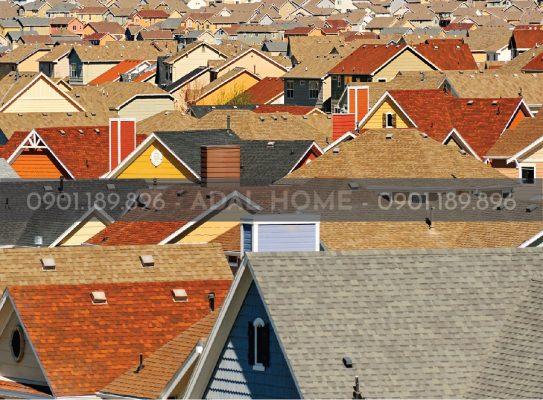 Hình - Một ngôi làng dùng toàn ngói bitum