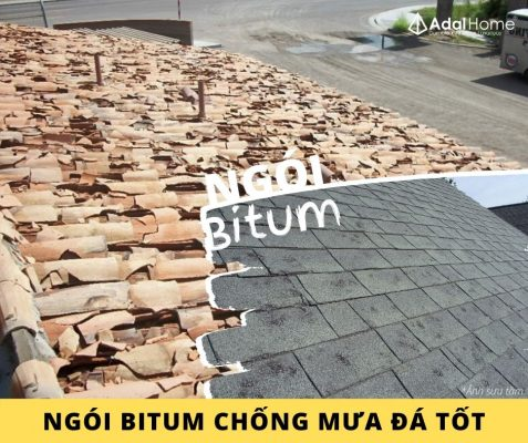 Hình – Ngói bitum chống mưa đá