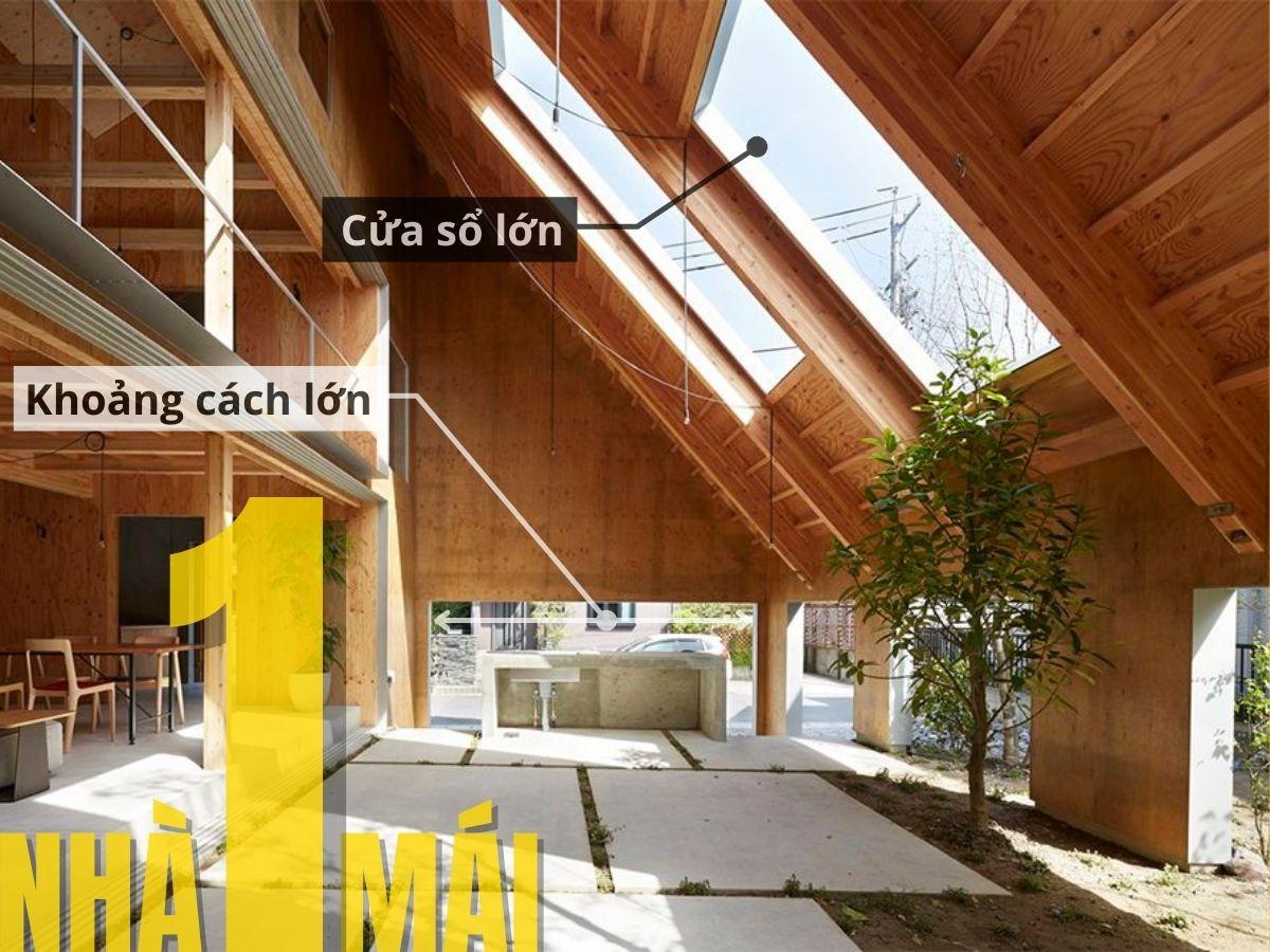 Lợi ích khi kết hợp nhà một mái cùng ngói bitum phủ đá