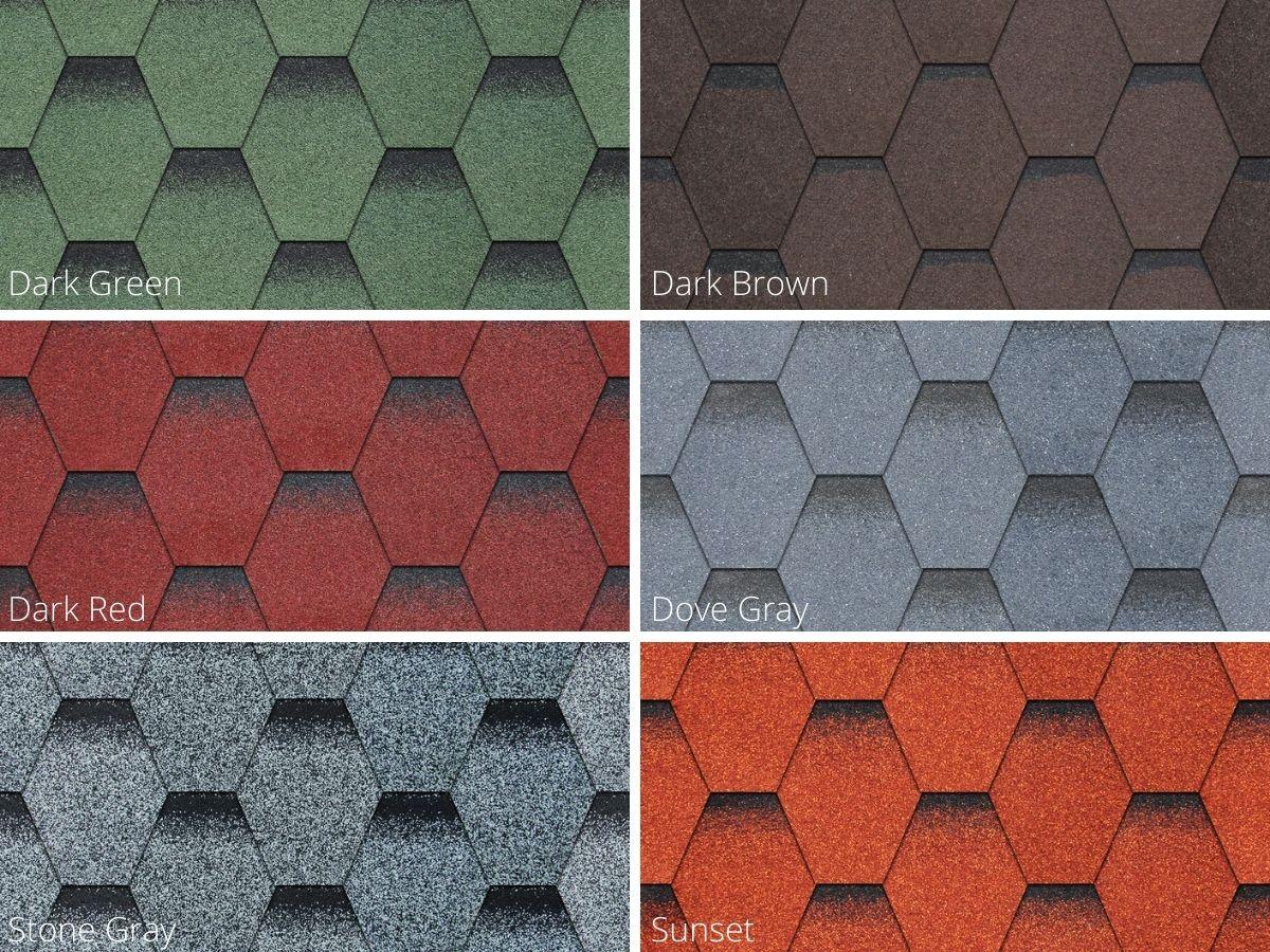 Ngói bitum phủ đá CANA Tổ ong: Đặc trưng và Ứng dụng
