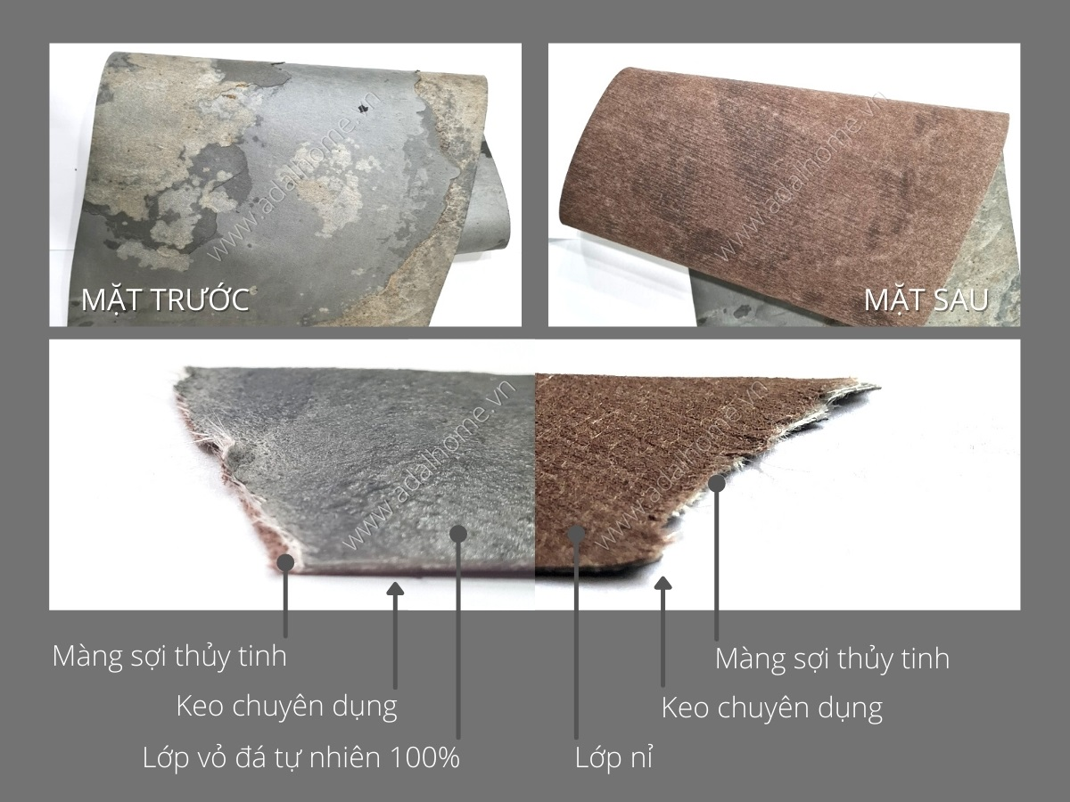 Cấu tạo của Đá mỏng Trang trí Art Stone - Flexy Face