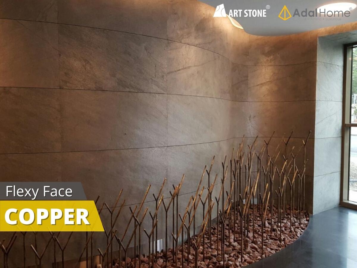 Đá mỏng trang trí Art Stone - Flexy Face cho tường cong