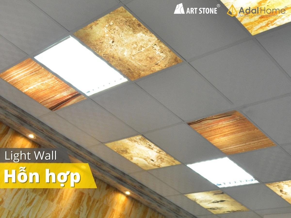 Đá mỏng xuyên sáng Art Stone - Light Wall ốp trần nhà
