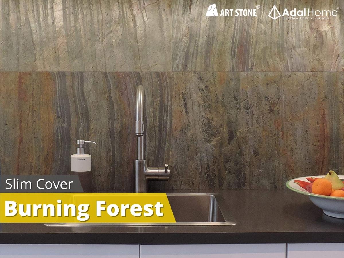 Đá mỏng ốp tường Art Stone – Slim Cover cho nhà bếp