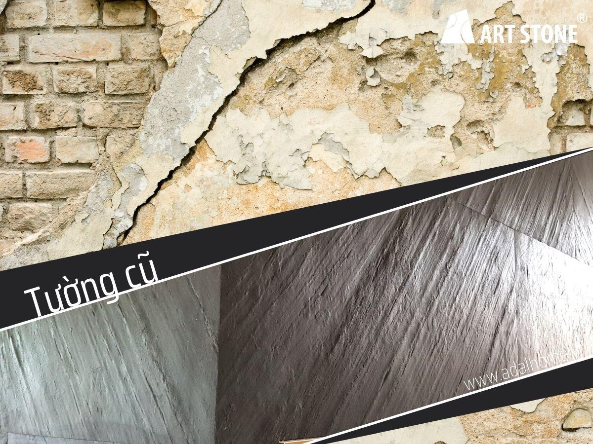 Kiểm tra kỹ những nền hoàn thiện cũ trước khi ốp đá mỏng ốp tường Art Stone