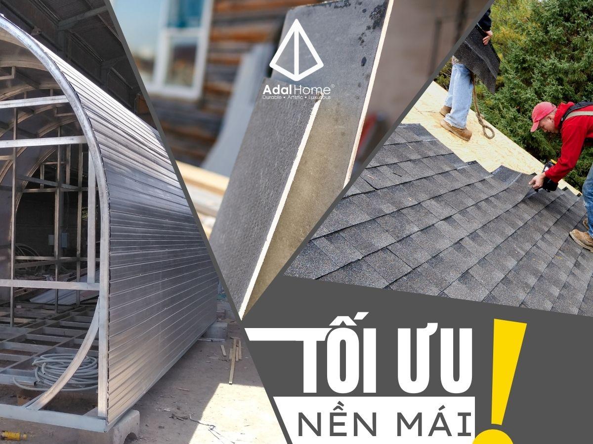 Nền mái nào là tối ưu nhất cho kết cấu mái ngói bitum phủ đá