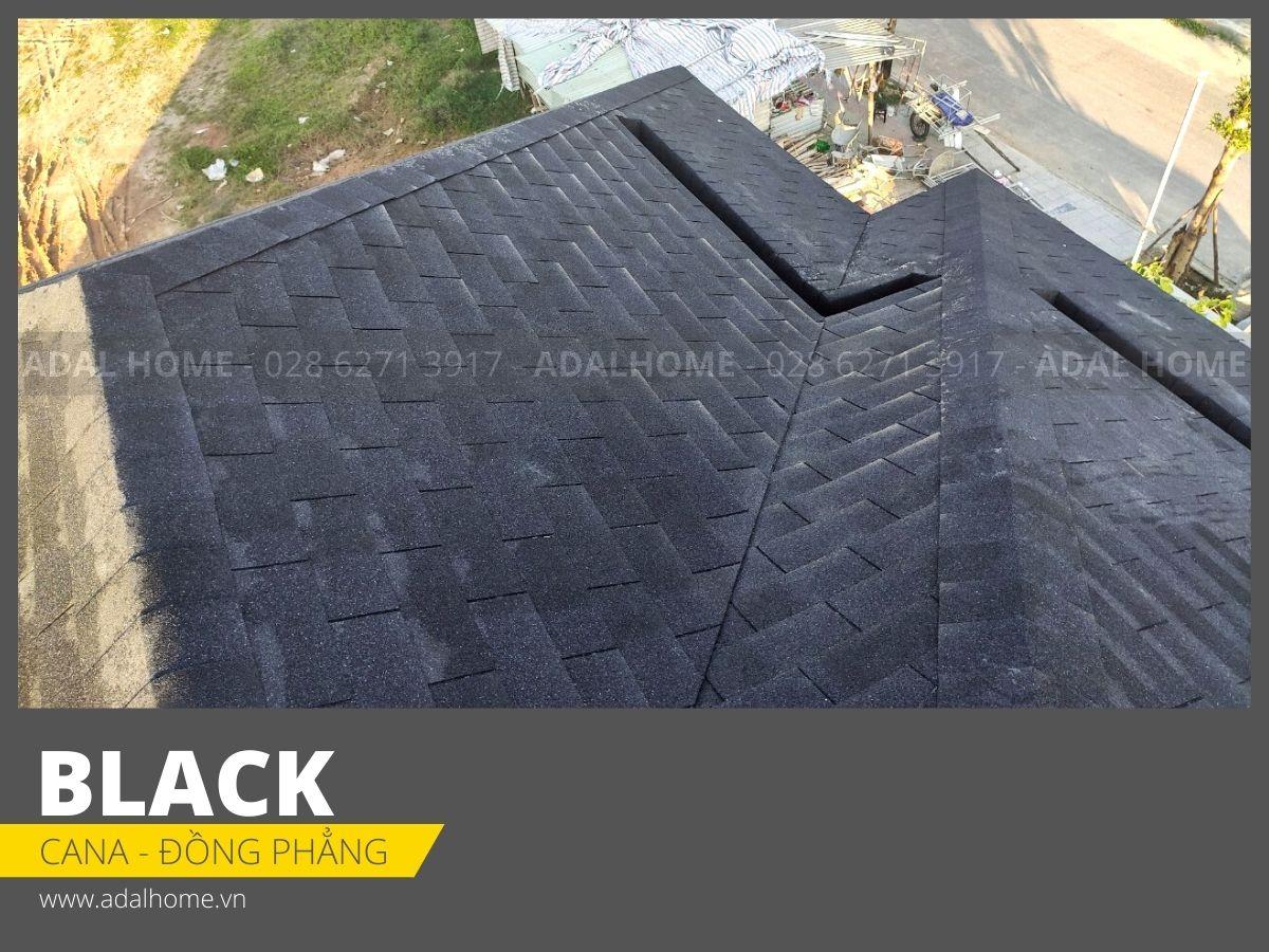 Ngói bitum phủ đá CANA - Đa tầng Công trình màu Black