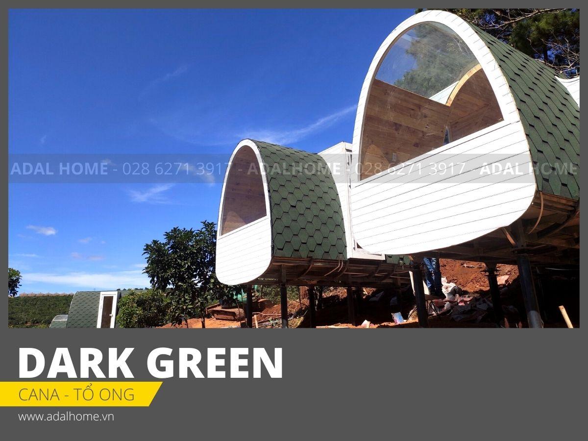 Ngói bitum phủ đá CANA - Tổ ong (Dark Green)