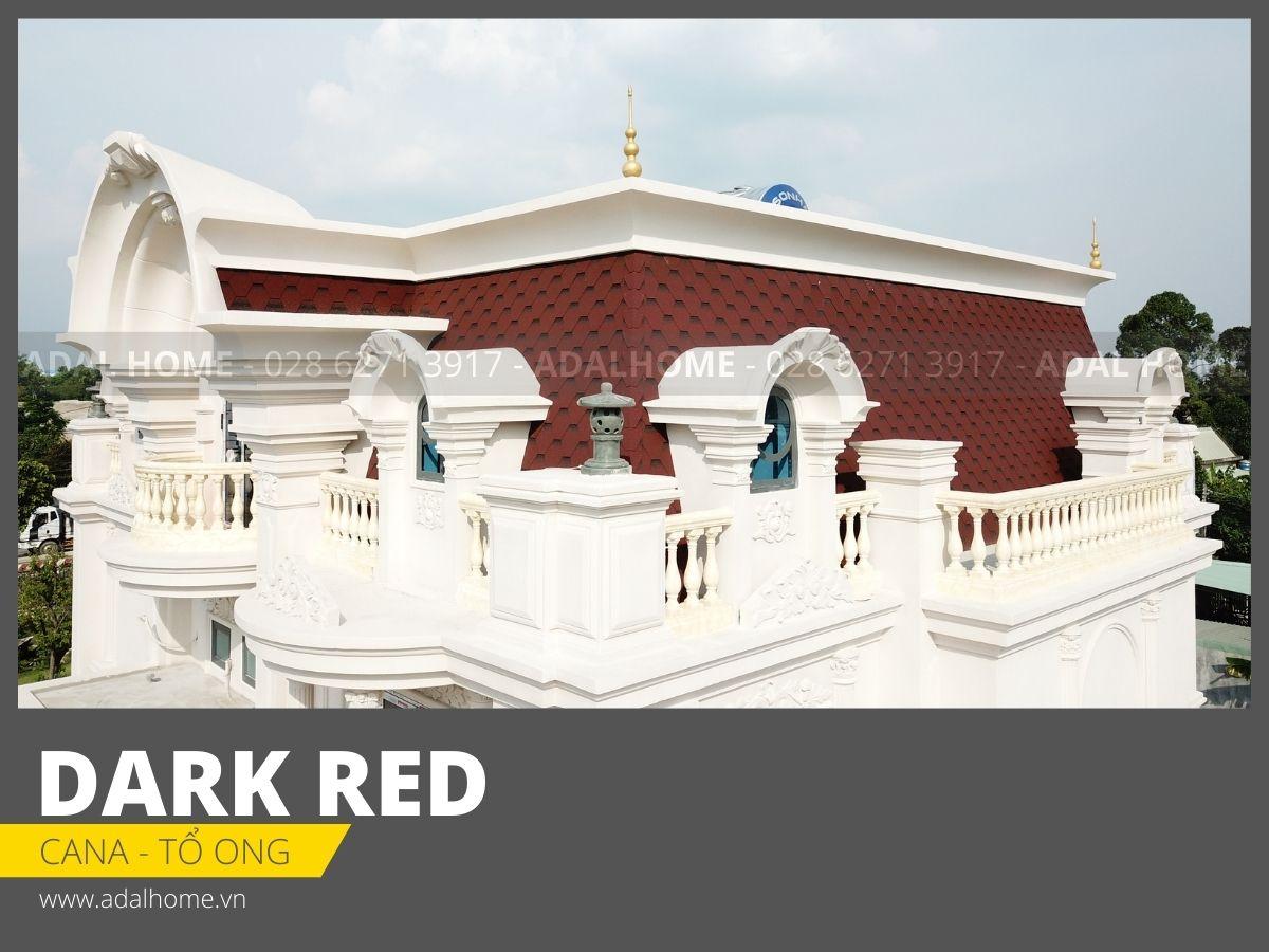 Ngói bitum phủ đá CANA - Tổ ong (Dark Red)