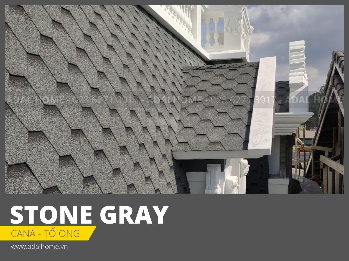 Ngói bitum phủ đá CANA - Tổ ong (Stone Gray)