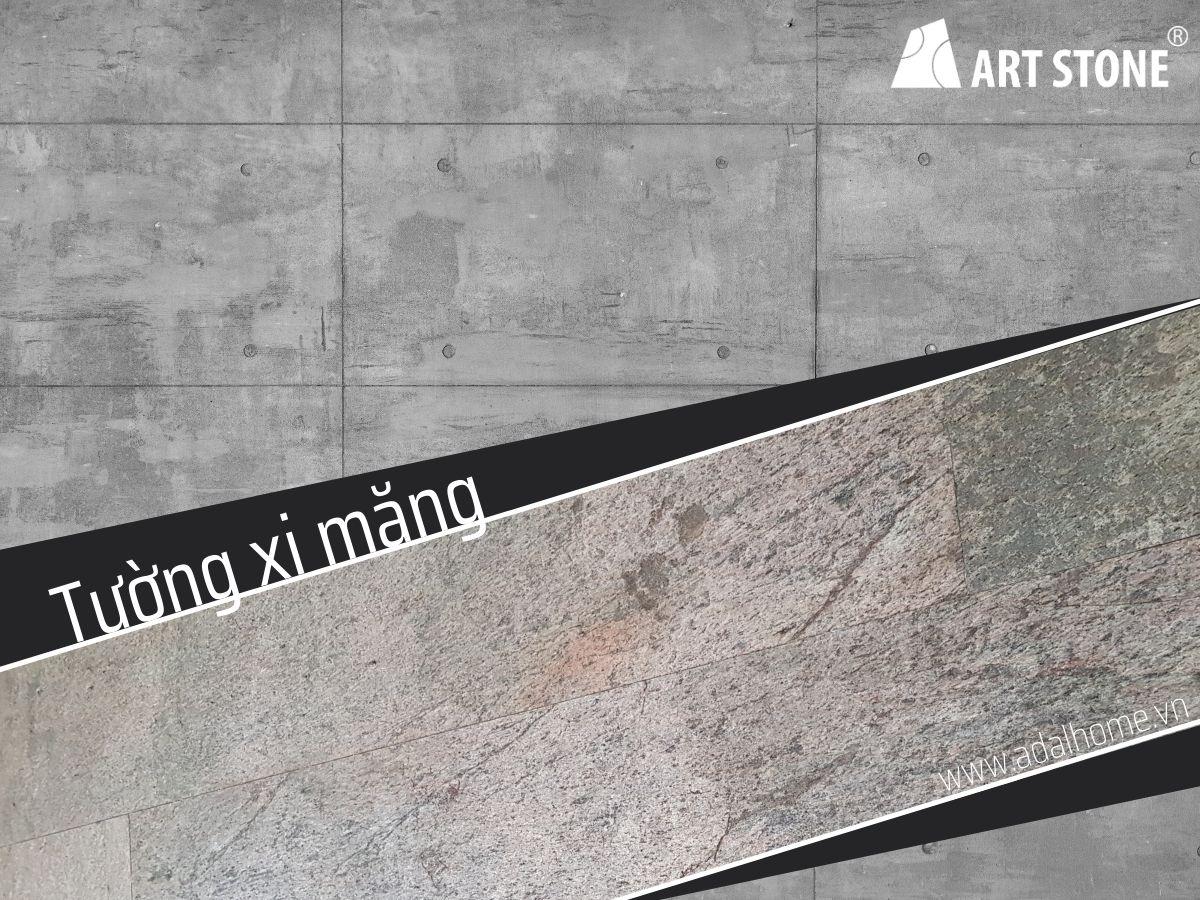 Ốp đá mỏng trang trí Art stone lên tường xi măng rất phổ biến với nhà Việt Nam