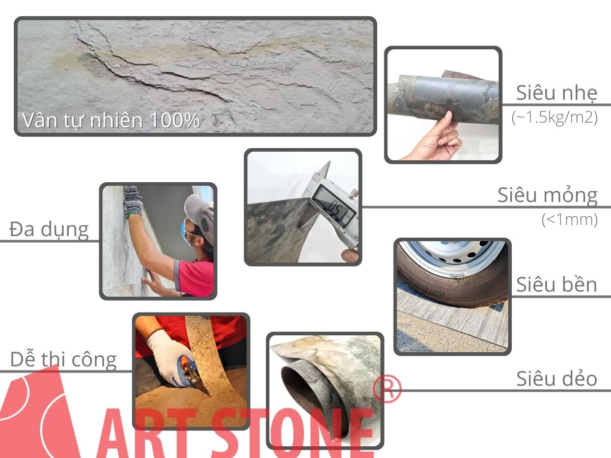 Ưu điểm của Đá mỏng trang trí Art Stone - Flexy Face