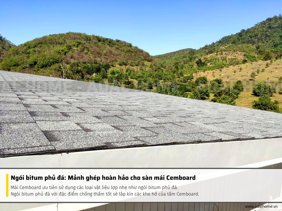 Ngói bitum phủ đá_ Mảnh ghép hoàn hảo cho sàn mái Cemboard