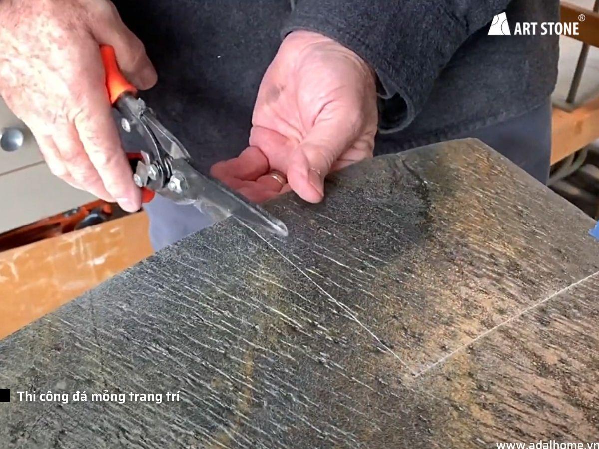 Tiến trình thi công đá mỏng trang trí