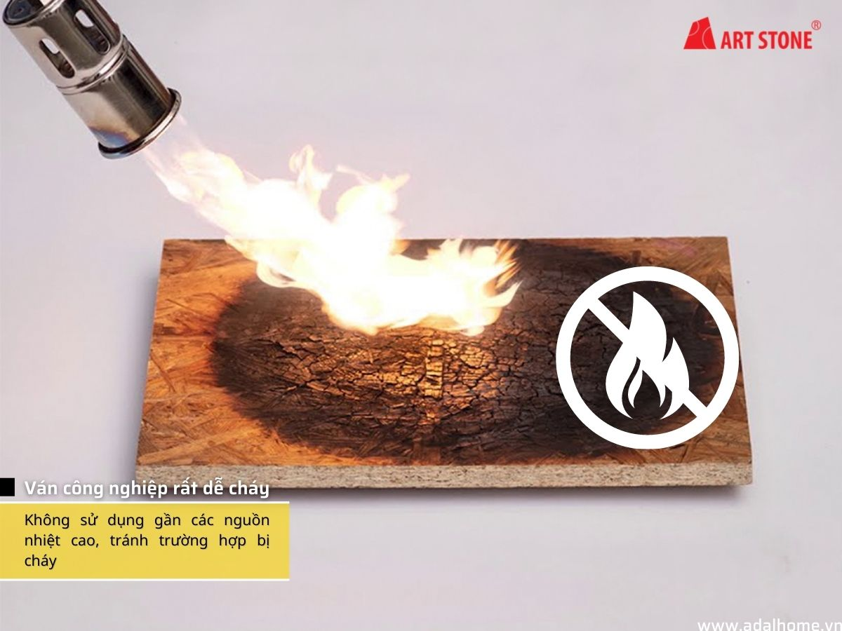 Ván công nghiệp rất dễ cháy