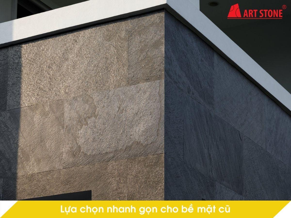 Lựa chọn nhanh gọn cho bề mặt cũ bằng đá mỏng ốp tường