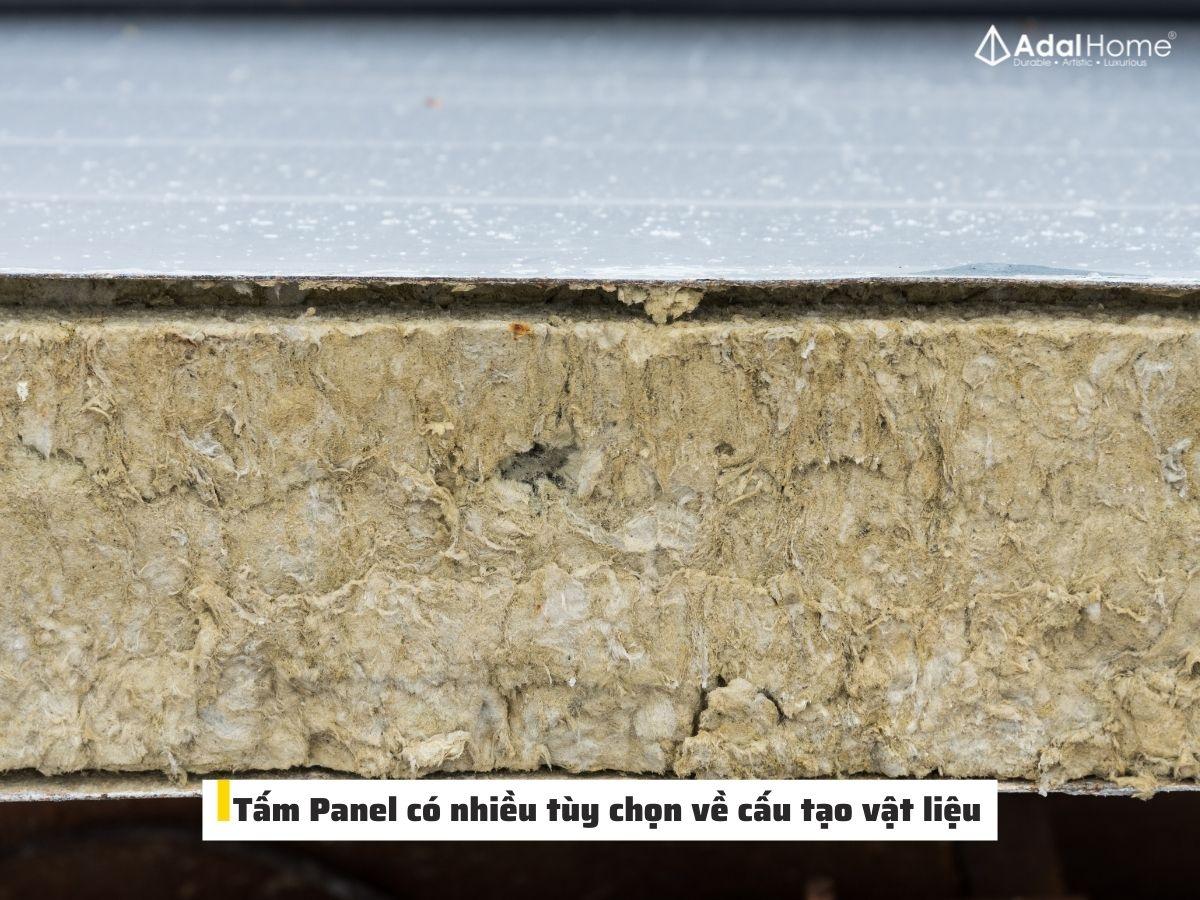 Phần lõi của tấm Panel nên được lựa chọn kỹ càng