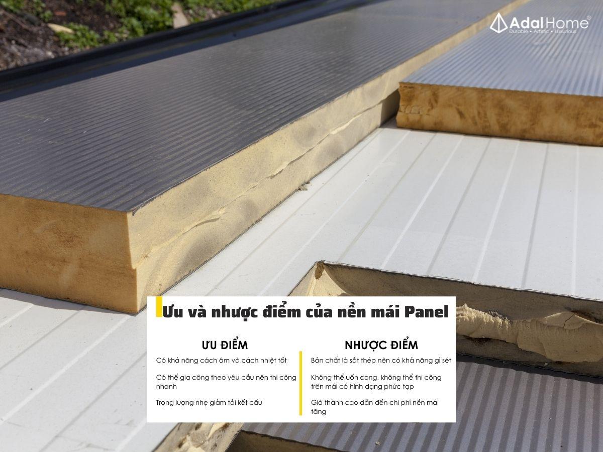 Ưu và nhược điểm của nền mái Panel