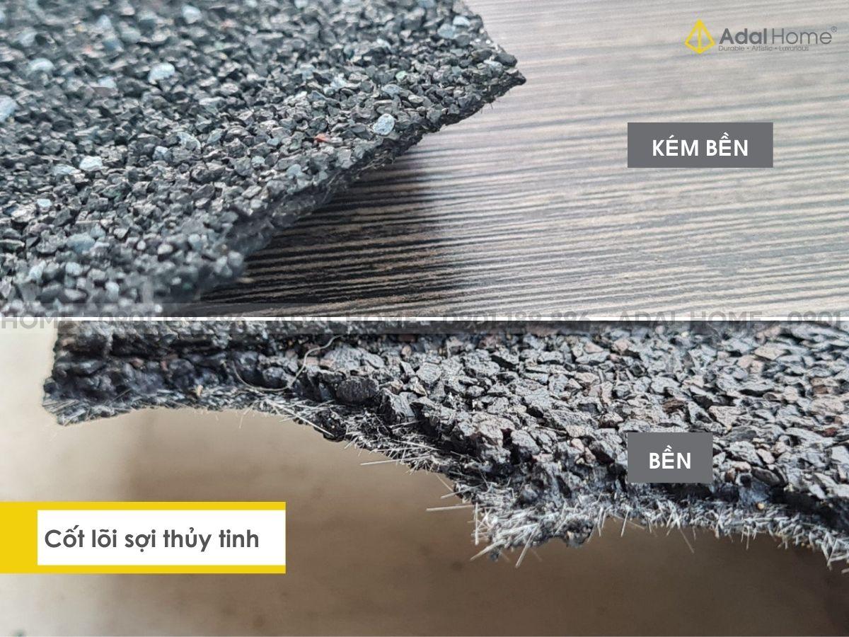 Cốt lõi sợi thủy tinh của ngói bitum phủ đá