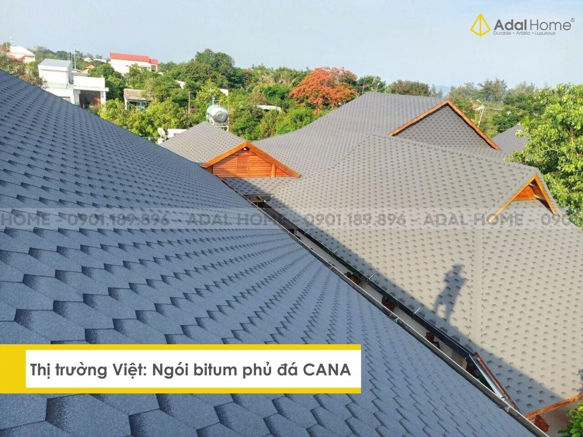 Thị trường Việt - Ngói bitum phủ đá CANA