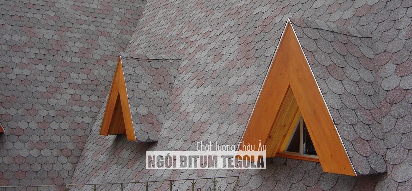 Ngói bitum phủ đá Tegola - Slide