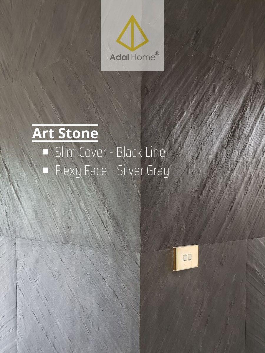 Cover Slim Cover - Black Line & Flexy Silver Gray