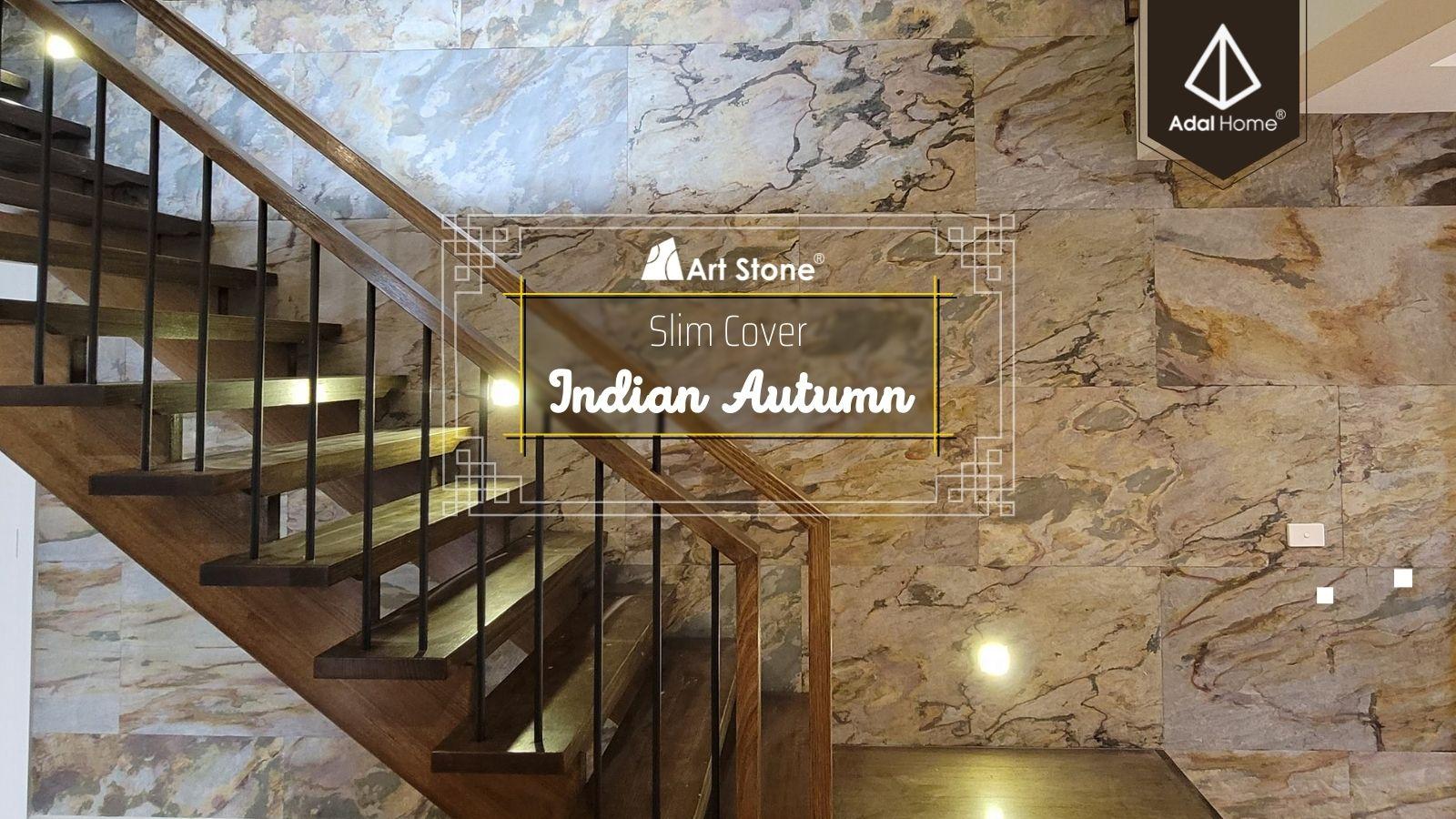 Vách và cầu thang mix Đá mỏng Art Stone - Indian Autumn (6)
